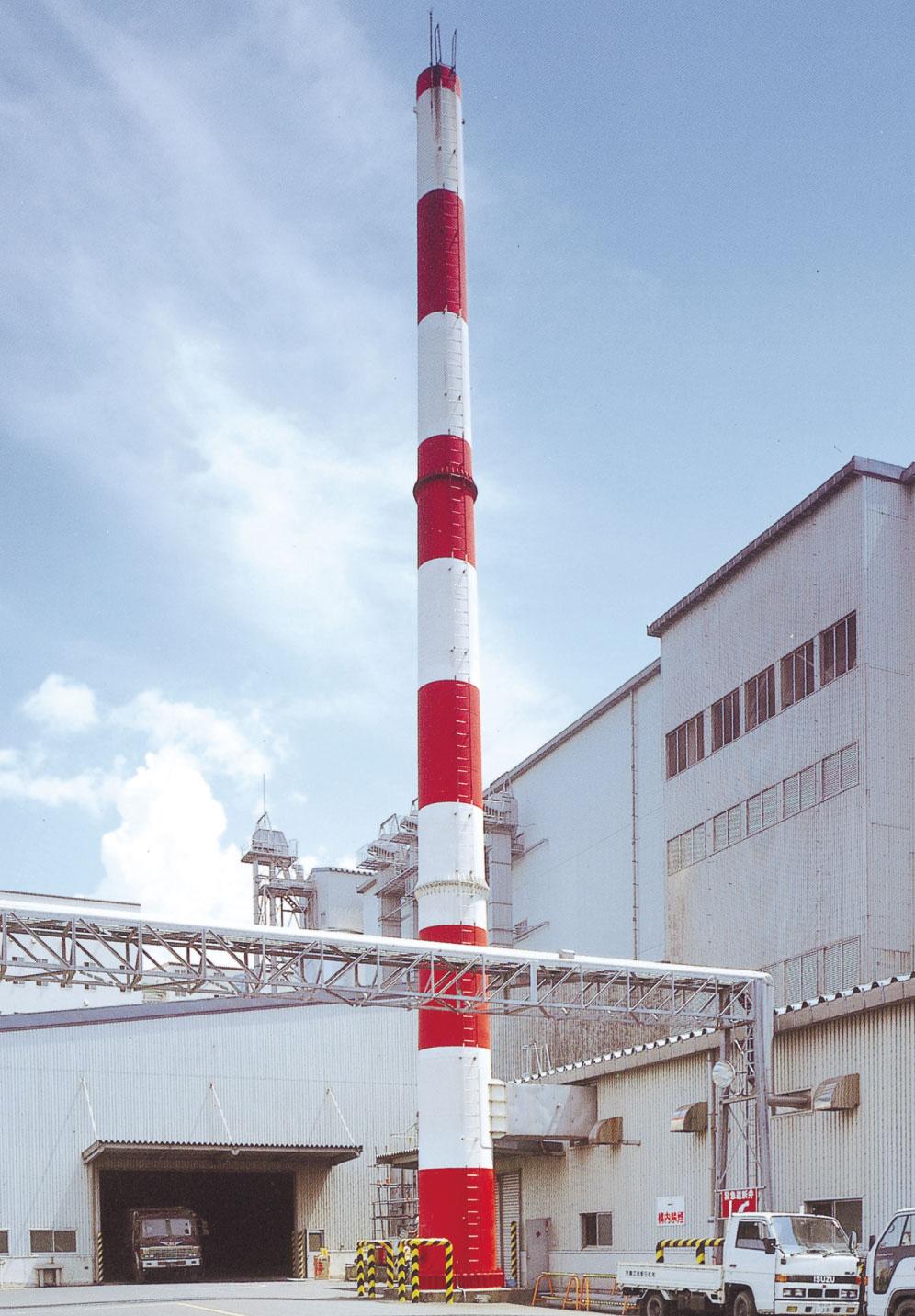 自立型煙突 高さ30m