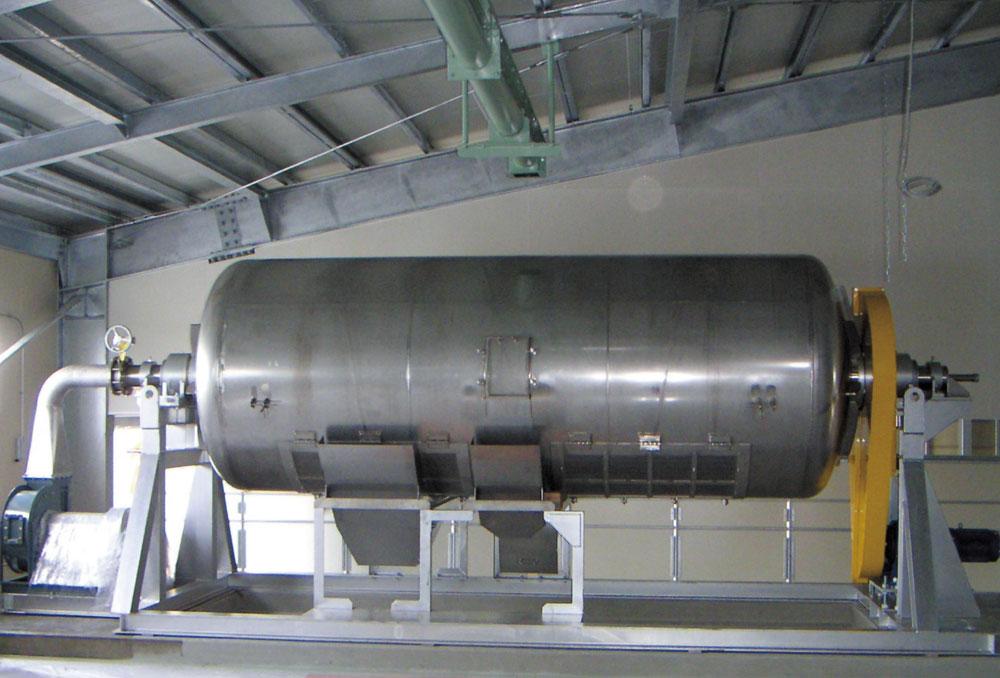 米・麦蒸ドラム(ステンレス製)2t/バッチ