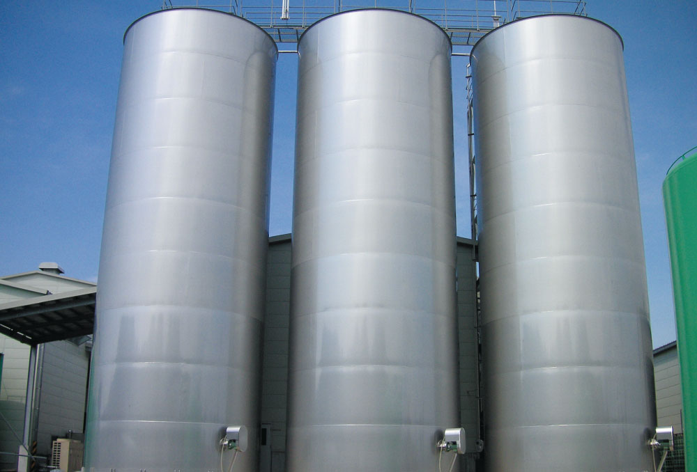 焼酎用製品タンク(ステンレス製)250kL